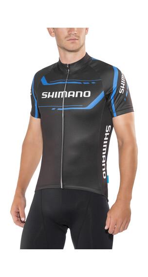Shimano Print Koszulka kolarska, krótki rękaw Mężczyźni czarny